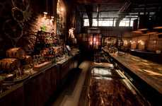 Industrial Hidden Bars - The Victoria Brown Coffee Shop Features a Hidden Bar