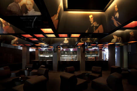 Modern Victorian Lounges - The XO Bar by Jim Clemes Incorporates Baroque Paintings on the Ceiling