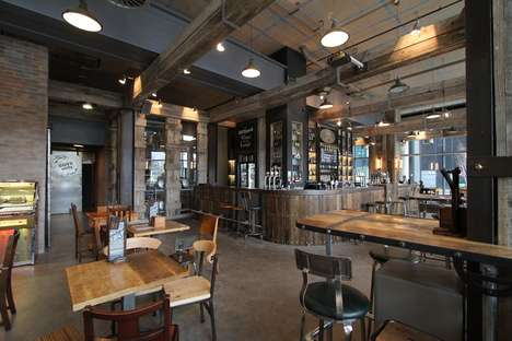 Rustic Dockside Bars - The Dockyard Bar's Reclaimed Materials Design Uses Authentic Finishes