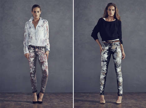 Bespattered Denim Fashions