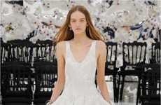 Juxtaposing Era Couture - The Dior Haute Couture Fall 2014 Collection is Inspired by Time