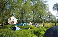 Spherical Hanging Tents - The Hanging Tent Company Presents the 'Roomoon'