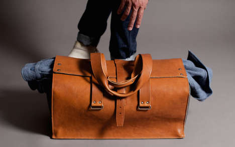 Chic Gentlemanly Luggage - This 1st Edition Travel Bag by Hardgraft is a Classic Carryall