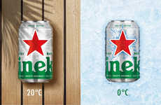 Chill-Revealing Beer Cans - This Heineken Beer Can Design Looks Cracked When It's Cold
