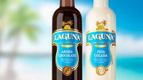Tropical Liqueur Bottles