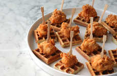 Classy Southern Hor D'Oeuvres - Mini Chicken and Waffles is Mess-Free and Diet-Friendly