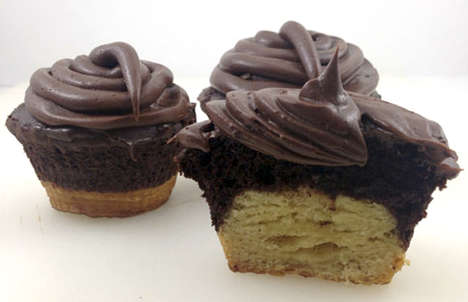 Croissant Cupcakes - Dude Foods Creates a Hybrid Dessert Dubbed the 'Crupcake'