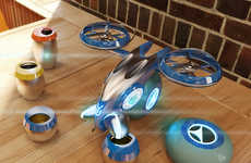 Aerial Bartender Drones - The Yura Appliance System is a Personal Robotic Bartender