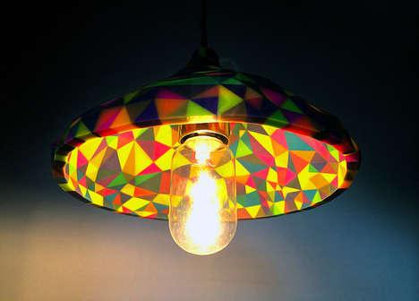 Geometric Multicolored Lampshades