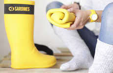 Rollable Rain Boots - The Sardines Rain Boots Can be Folded Up to Save Space