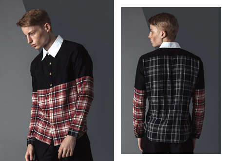 Youthful Lumberjack Lookbooks - The HAUTEAM Spring/Summer 2015 Collection is Plaid-Accented