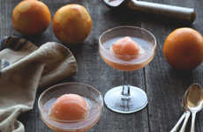 Boozy Sorbet Floats - This Aperol Spritz Float Cocktail is a Sweet Summertime Drink