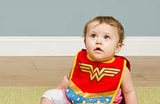 Superhero Baby Bibs - These Heroic Bibs and Booties Turn Any Baby into a Caped Crusador