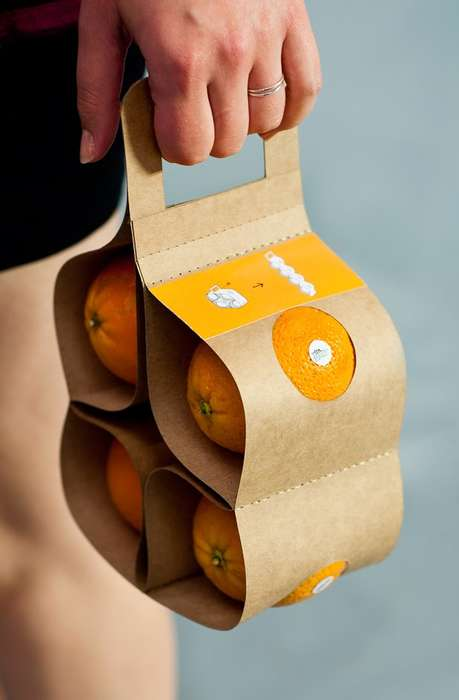 Efficient Fruit Packaging - VitaPack Makes It Easy to Transport a Pack of Oranges Home