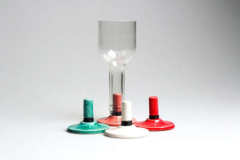 Wine Bottle Cups - The Stallo Project Converts Old Bottles into Chalices