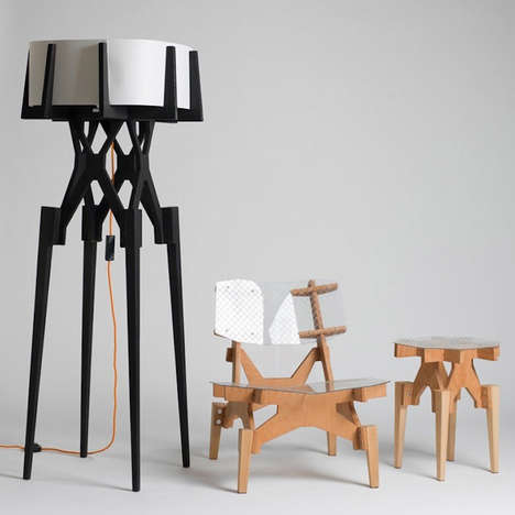 Puzzle-Constructed Furniture