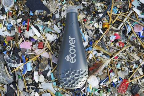 Recycled Soap Bottles - Ecover's New Dish Soap Bottle Raises Awareness on Ocean Plastic