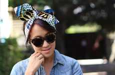 DIY Headwrap Accessories - This Wax Print Project from Honestly WTF is a Summer Must-Have