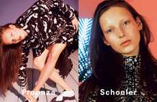 Bleached Brow Fashion Ads - The Proenza Schouler Fall 2014 Campaign Stars Julia Bergshoeff