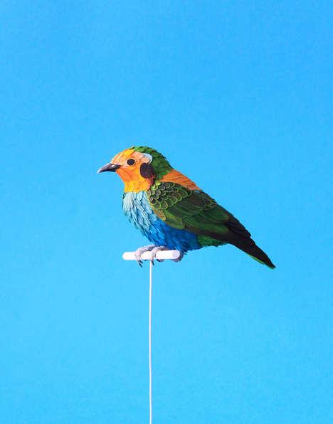 Lifelike Paper Birds