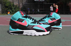 Beachy Platform Kicks - The Nike Air Trainer SC High Comes in a South Beach-Worthy Style