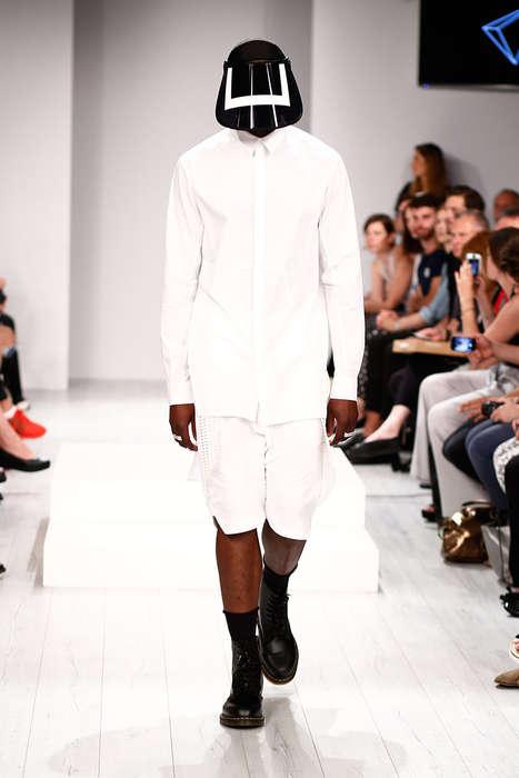 Visor-Wearing Menswear Shows