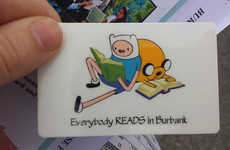 Adventurous Library Cards - This Library Card Design Features Characters from Adventure Time