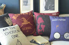 Magic School Cushion Sets - These Harry Potter Decor Pillows Feature Movie Poster Art