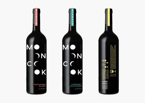 Lunar-Inspired Wine Packaging - MoonCook is a Conceptual Branding Project for Wine
