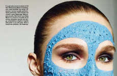 Conceptual Skincare Captures - Vogue Italia Beauty's Latest Cover Highlights the Best Mask Products