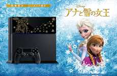 Cinematic Gaming Consoles - Princesses Anna and Elsa Get Their Own Special Edition Playstation