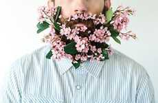 Hipster Flower Beards - This Putting-Things-In-Beards Photography is Going Viral