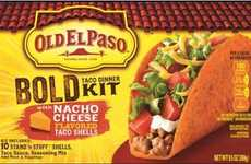 Nacho Taco Kits - This Old El Paso Taco Kit Features a Cheesy Orange Dorito-Like Taco