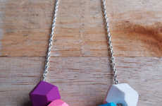 Playfully Polygon Accessories - Etsy's Fruitloop Jewelry Shop Features Colorful Statement Necklaces