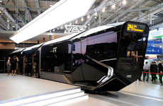 Sci-Fi Streetcar Concepts - Russia's R1 Tram System Features a Futuristic and Sophisticated Design