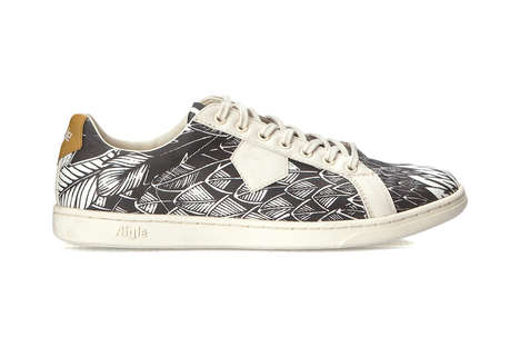 Illustrative Feather Sneakers