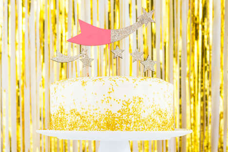 Golden Confetti Cakes