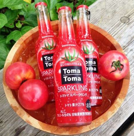 Boozy Tomato Beverages - Toma Toma Sparkling Combines Alcohol and Tomato Juice