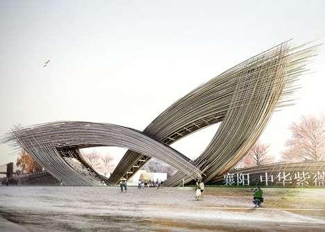 Blossoming Bamboo Gates