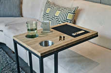 Organized TV Trays - Caddy is a TV Tray Table to Keep Tablets, Remotes, Phones & Drinks Neat