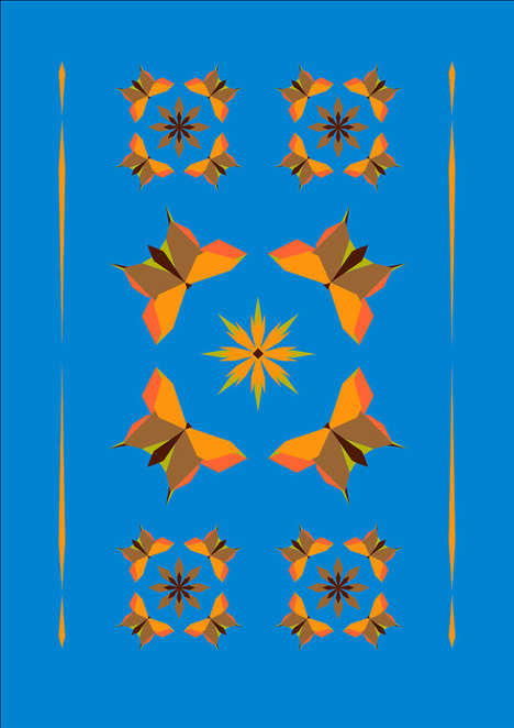 Kaleidoscopic Insect Graphics