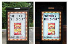 Movie Completion Ads - Orville Redenbacher's Night Time Billboard Requires Dark to Make Sense