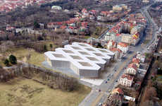 Distorted Grid Libraries - The National Library of the Czech Republic Receives an Interesting Design