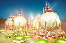 Minuscule Oil Refinery Photography - This David LaChapelle Series is Stunning and Sends a Message