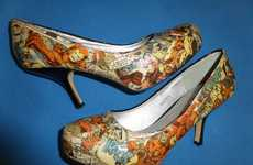 DIY Superhero Stilettos - These Handmade High Heels are Made Using Upcycled Comic Book Pages