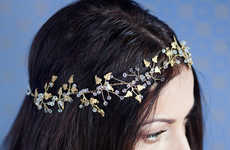 Delicately Botanical Headpieces - Etsy's Lavender by Jurgita Shop Features Striking Crystal Designs