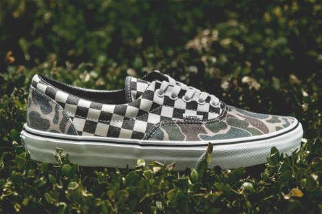 Checkered Camo Sneakers