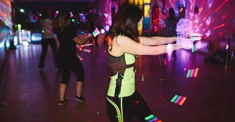 Club-Recreating Exercise Franchises - Clubbercise Classes are a Club Anthem-Playing Fitness Party