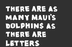 Endangered Dolphin Ads - WWF's Campaign Ad to Save Maui's Dolphins Shows Their Decline in Numbers