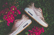Girly Metallic Sneakers - These Nike Air Max 1 Metallic Bronze Sneakers are Super Feminine